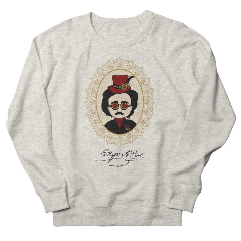 Steampunk Edgar Allan Poe Women's Sweatshirt by Ellygator's Artist Shop