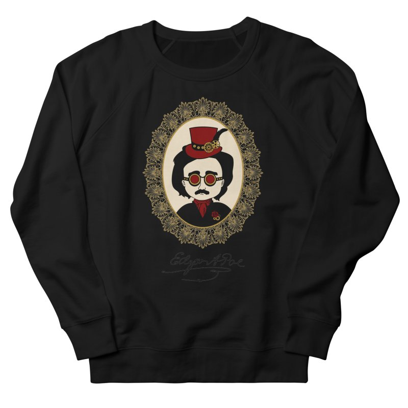 Steampunk Edgar Allan Poe Men's Sweatshirt by Ellygator's Artist Shop