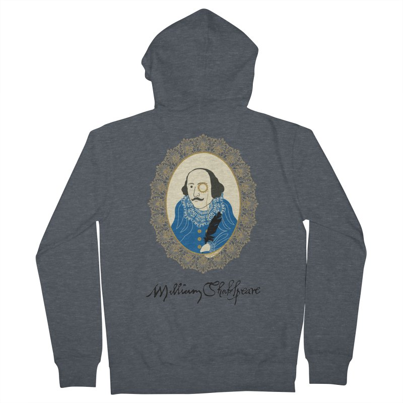 Steampunk Shakespear Women's Zip-Up Hoody by Ellygator's Artist Shop