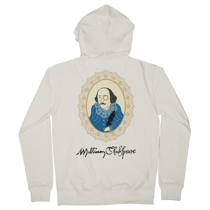 Steampunk Shakespear Men's Zip-Up Hoody by Ellygator's Artist Shop
