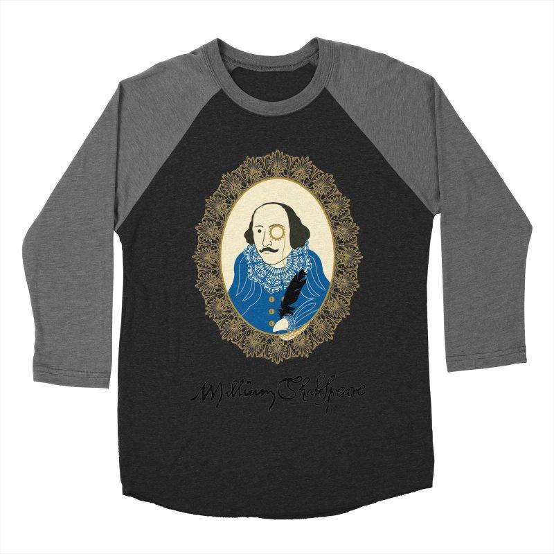 Steampunk Shakespear Women's Baseball Triblend T-Shirt by Ellygator's Artist Shop