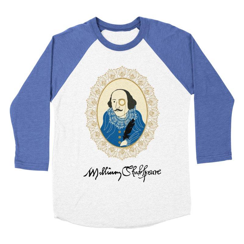 Steampunk Shakespear Men's Baseball Triblend T-Shirt by Ellygator's Artist Shop
