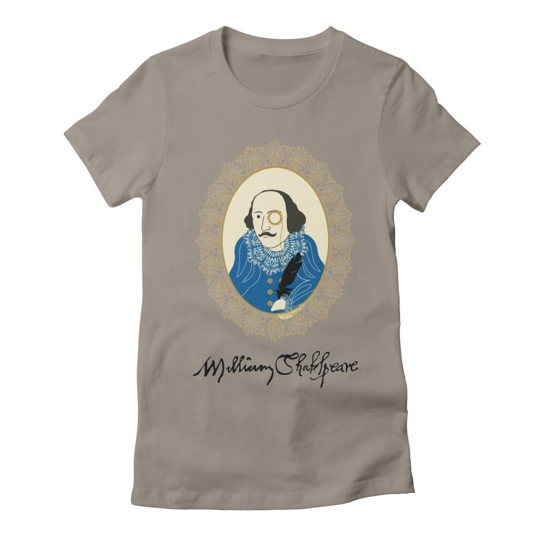 Steampunk Shakespear Women's Fitted T-Shirt by Ellygator's Artist Shop