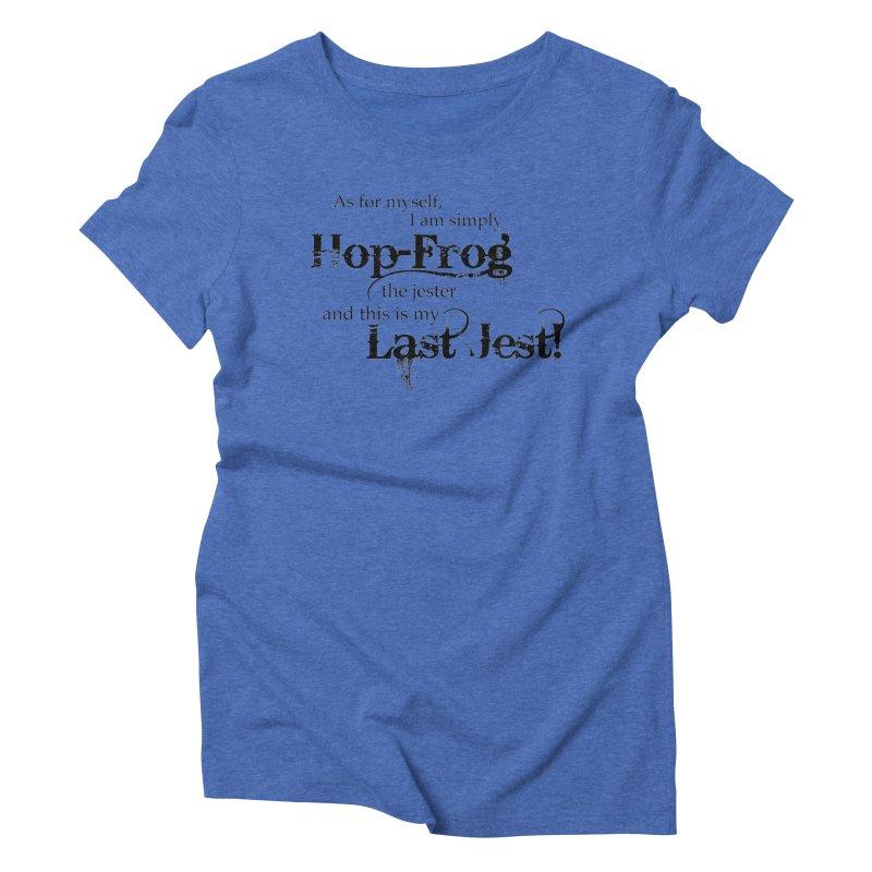 Hop Frog Women's Triblend T-Shirt by Ellygator's Artist Shop