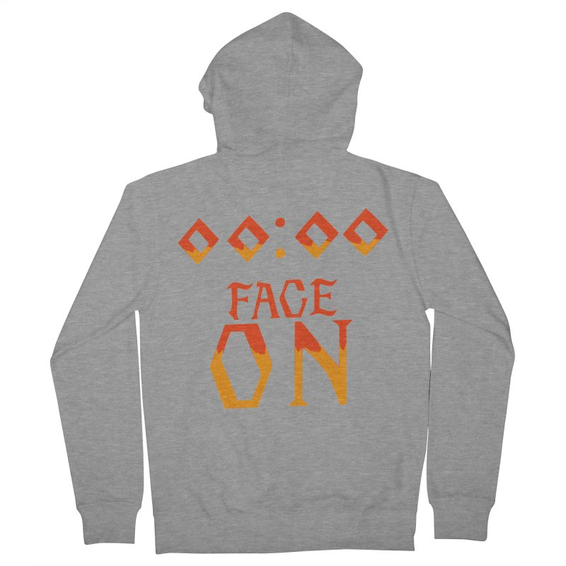 FACE ON Men's Zip-Up Hoody by Ellygator's Artist Shop