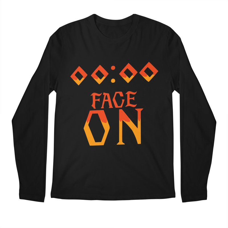 FACE ON Men's Longsleeve T-Shirt by Ellygator's Artist Shop