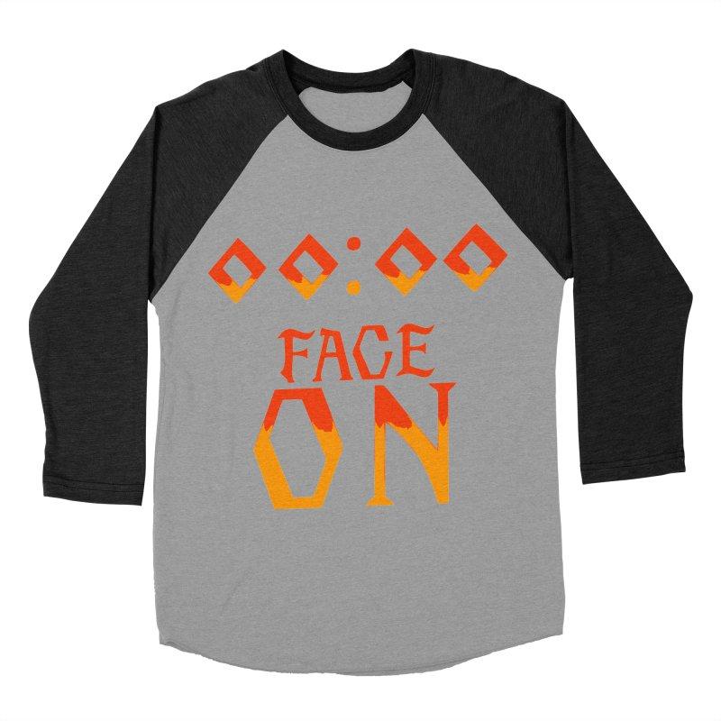 FACE ON Women's Baseball Triblend T-Shirt by Ellygator's Artist Shop