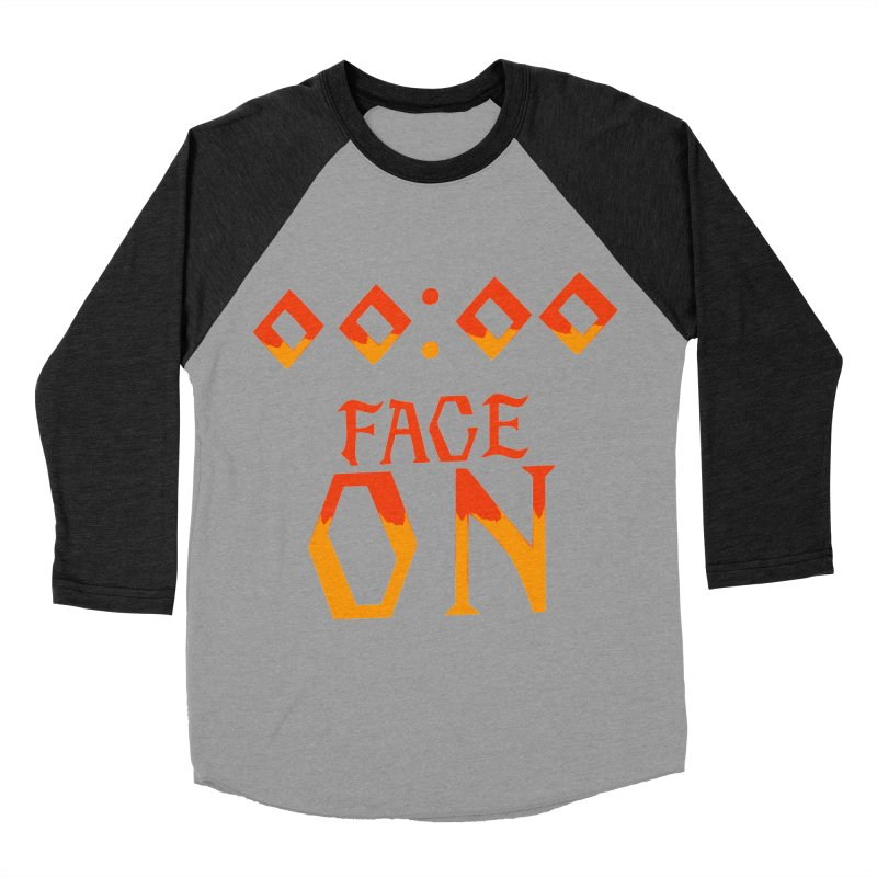 FACE ON Men's Baseball Triblend T-Shirt by Ellygator's Artist Shop