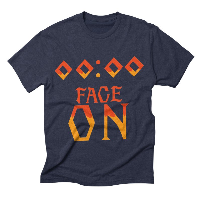 FACE ON Men's Triblend T-shirt by Ellygator's Artist Shop