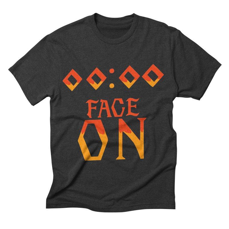 FACE ON Men's Triblend T-shirt by Ellygator's Artist Shop