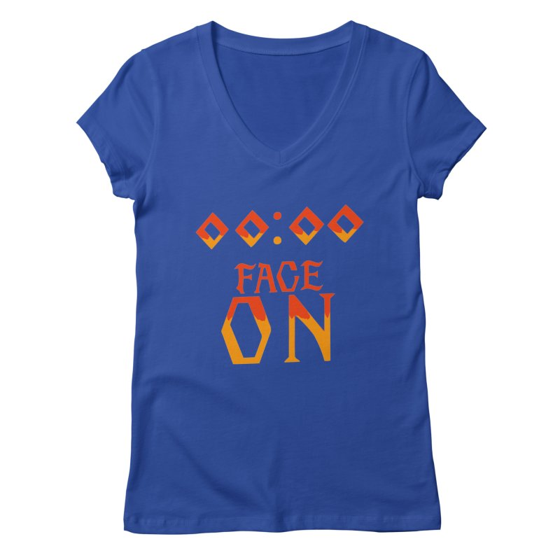 FACE ON Women's V-Neck by Ellygator's Artist Shop