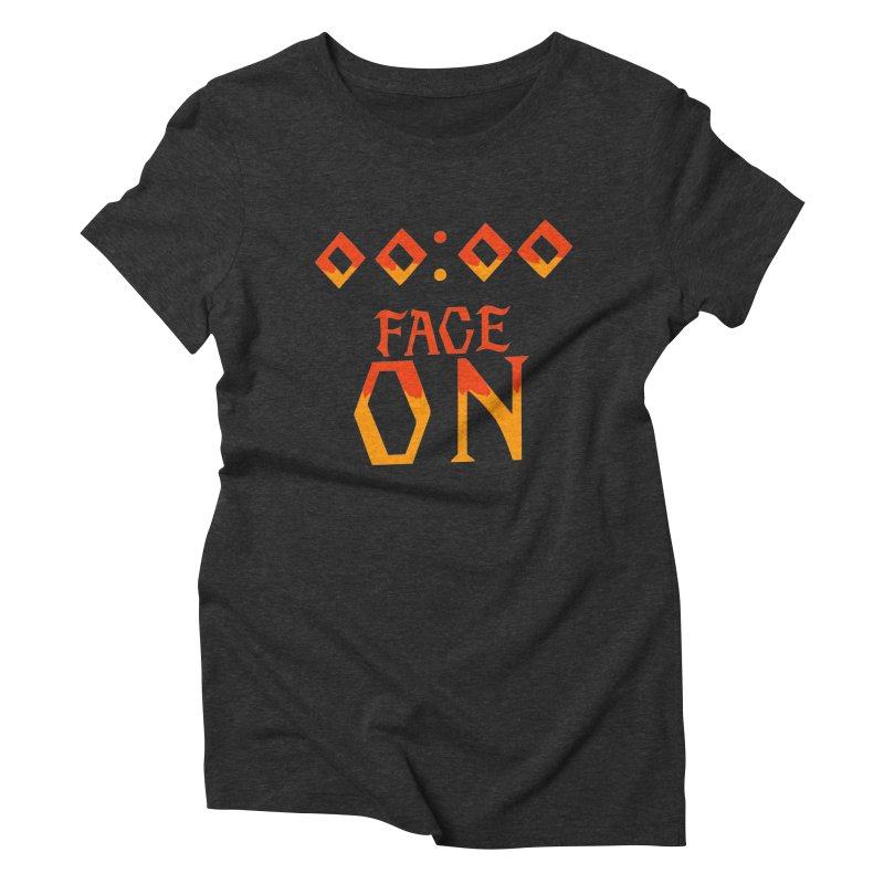 FACE ON Women's Triblend T-shirt by Ellygator's Artist Shop