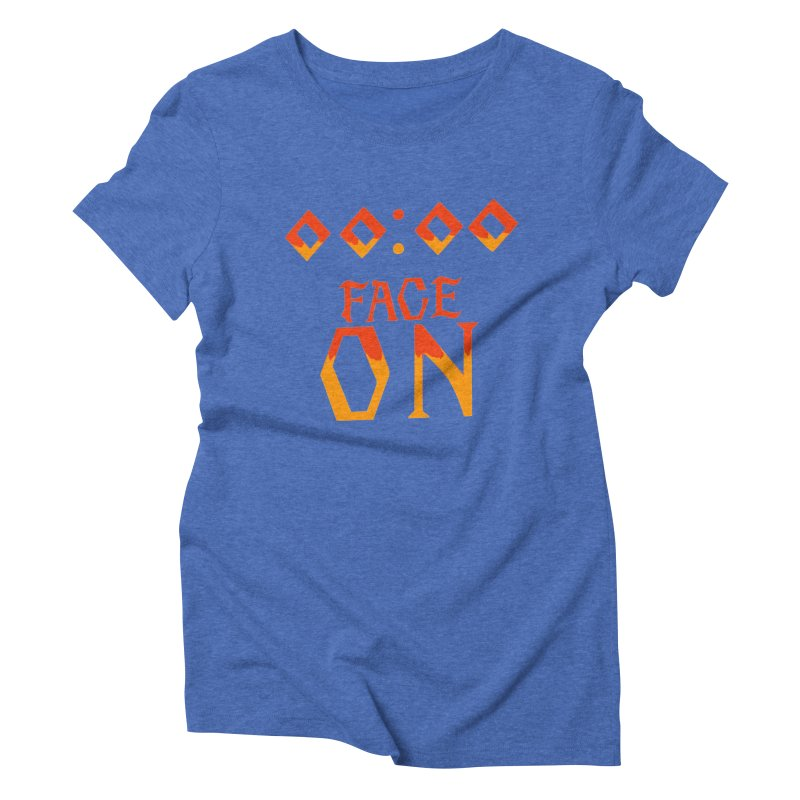 FACE ON Women's Triblend T-Shirt by Ellygator's Artist Shop