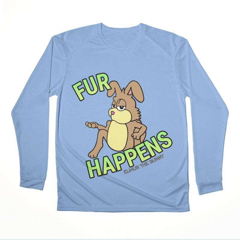 FUR HAPPENS - Elmur the Bunny Women's Longsleeve T-Shirt by The Rabbit Hole - Elmur the Bunny Shop