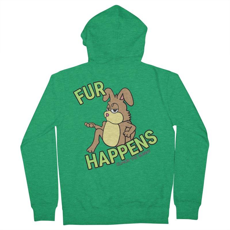 FUR HAPPENS - Elmur the Bunny Women's Zip-Up Hoody by The Rabbit Hole - Elmur the Bunny Shop