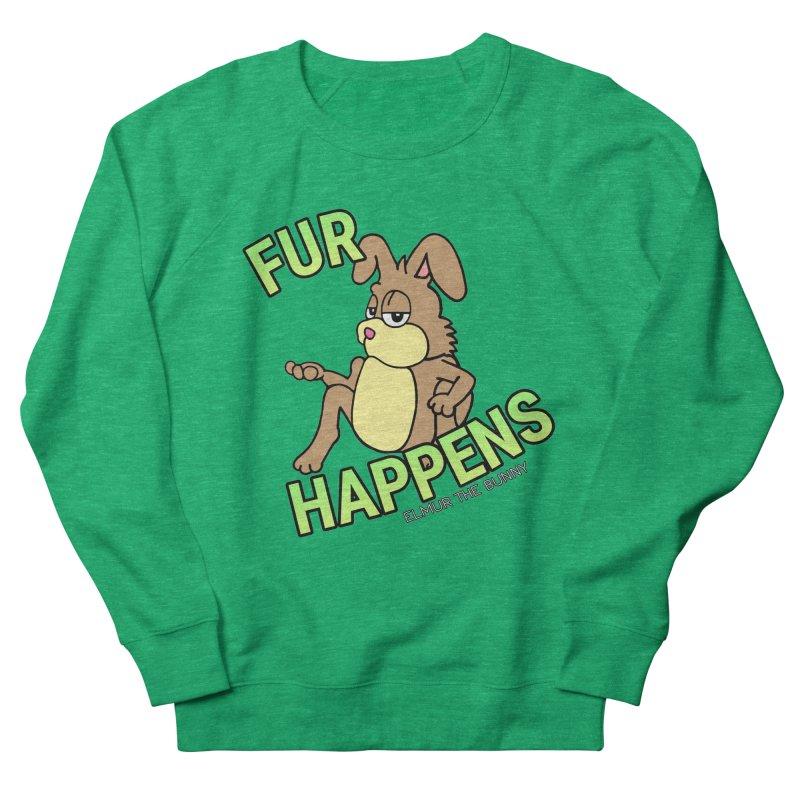 FUR HAPPENS - Elmur the Bunny Women's Sweatshirt by The Rabbit Hole - Elmur the Bunny Shop