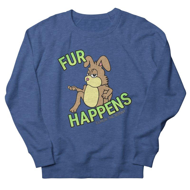 FUR HAPPENS - Elmur the Bunny Men's Sweatshirt by The Rabbit Hole - Elmur the Bunny Shop