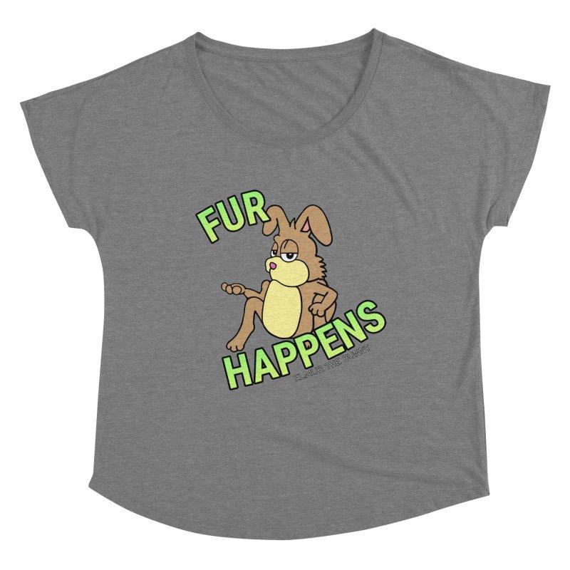 FUR HAPPENS - Elmur the Bunny Women's Scoop Neck by The Rabbit Hole - Elmur the Bunny Shop