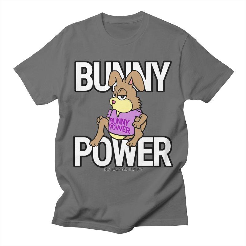 BUNNY POWER - Elmur the Bunny Men's T-Shirt by The Rabbit Hole - Elmur the Bunny Shop