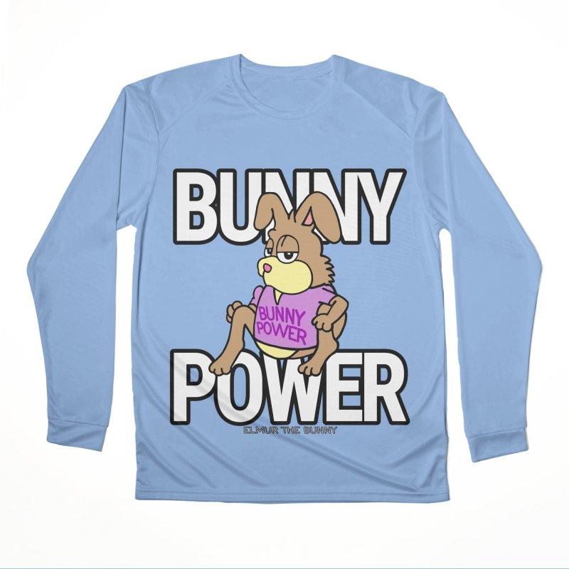 BUNNY POWER - Elmur the Bunny Women's Longsleeve T-Shirt by The Rabbit Hole - Elmur the Bunny Shop