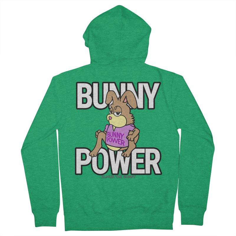 BUNNY POWER - Elmur the Bunny Women's Zip-Up Hoody by The Rabbit Hole - Elmur the Bunny Shop