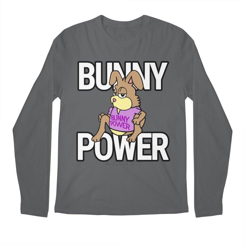 BUNNY POWER - Elmur the Bunny Men's Longsleeve T-Shirt by The Rabbit Hole - Elmur the Bunny Shop