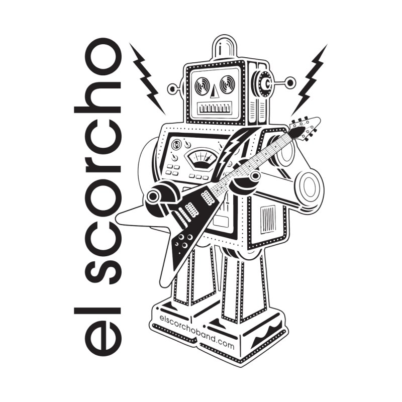 El Scorcho Robot (Black Print) Men's T-Shirt by ATL Tribute Bands Shop