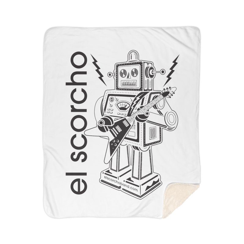 El Scorcho Robot (Black Print) Home Sherpa Blanket Blanket by ATL Tribute Bands Shop