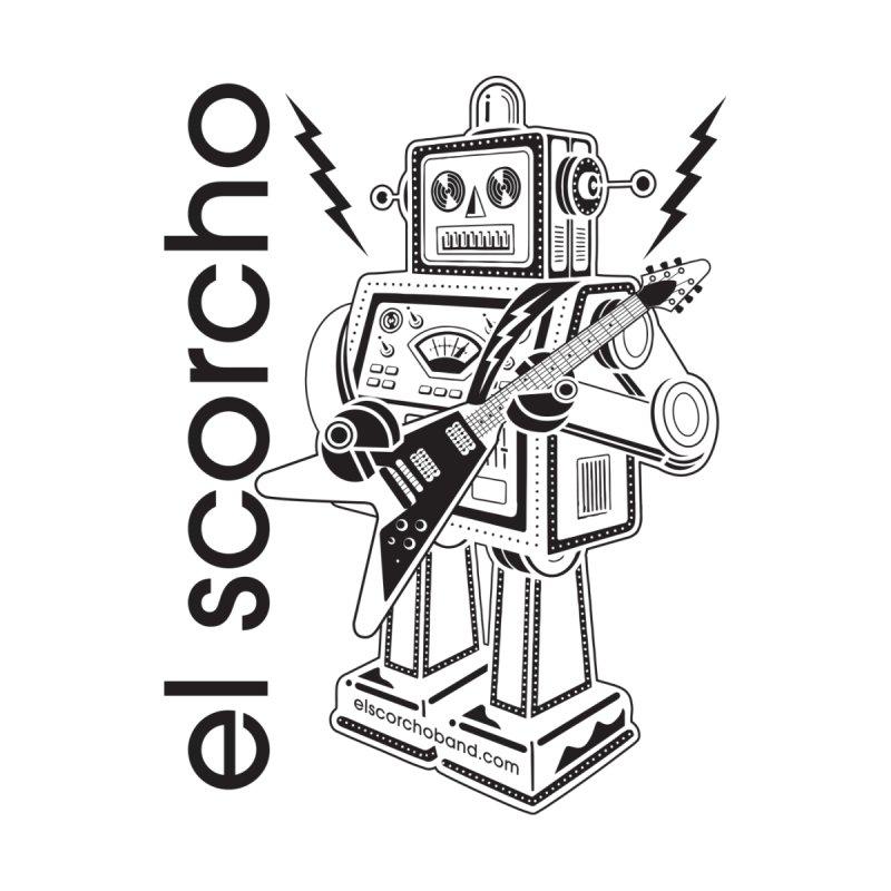 El Scorcho Robot (Black Print) Home Fine Art Print by ATL Tribute Bands Shop