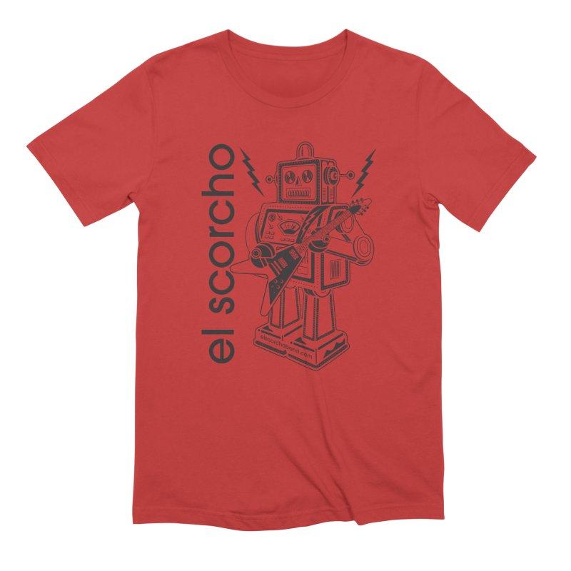 El Scorcho Robot (Black Print) Men's T-Shirt by ATL Tribute Bands Shop