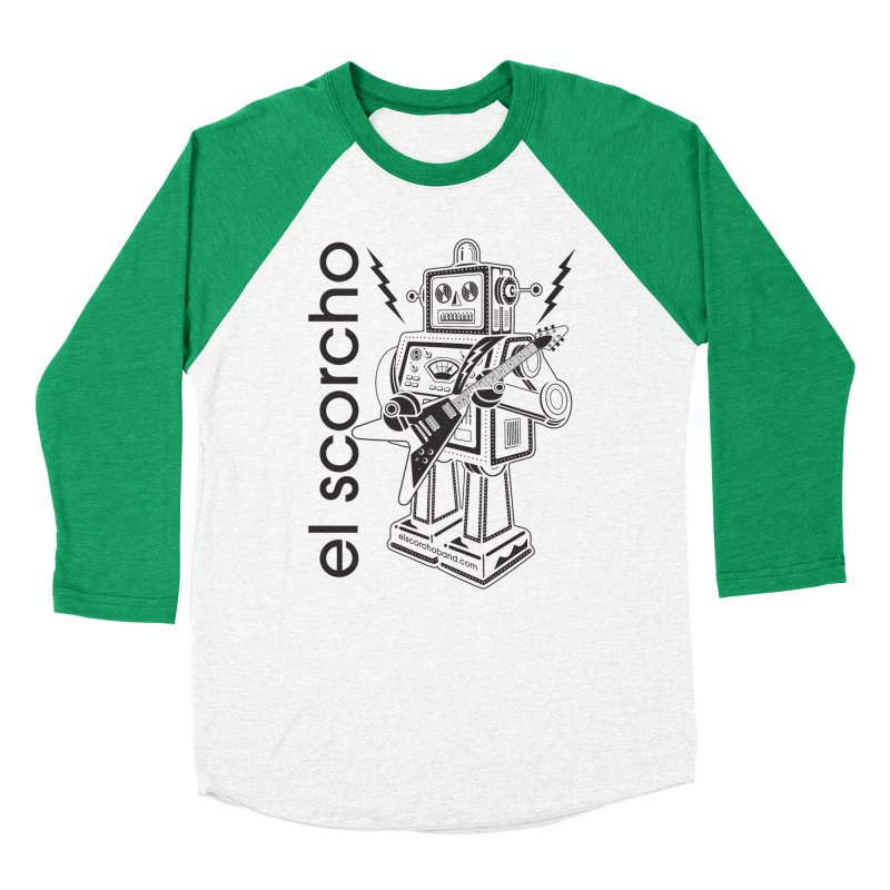El Scorcho Robot (Black Print) Women's Baseball Triblend Longsleeve T-Shirt by ATL Tribute Bands Shop