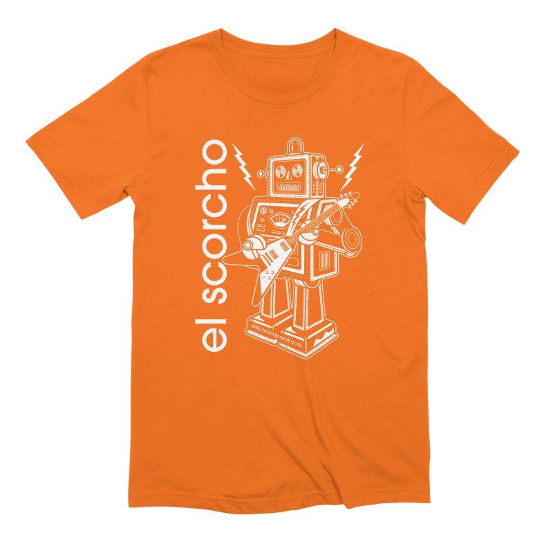 El Scorcho Robot (White Print) Men's T-Shirt by ATL Tribute Bands Shop