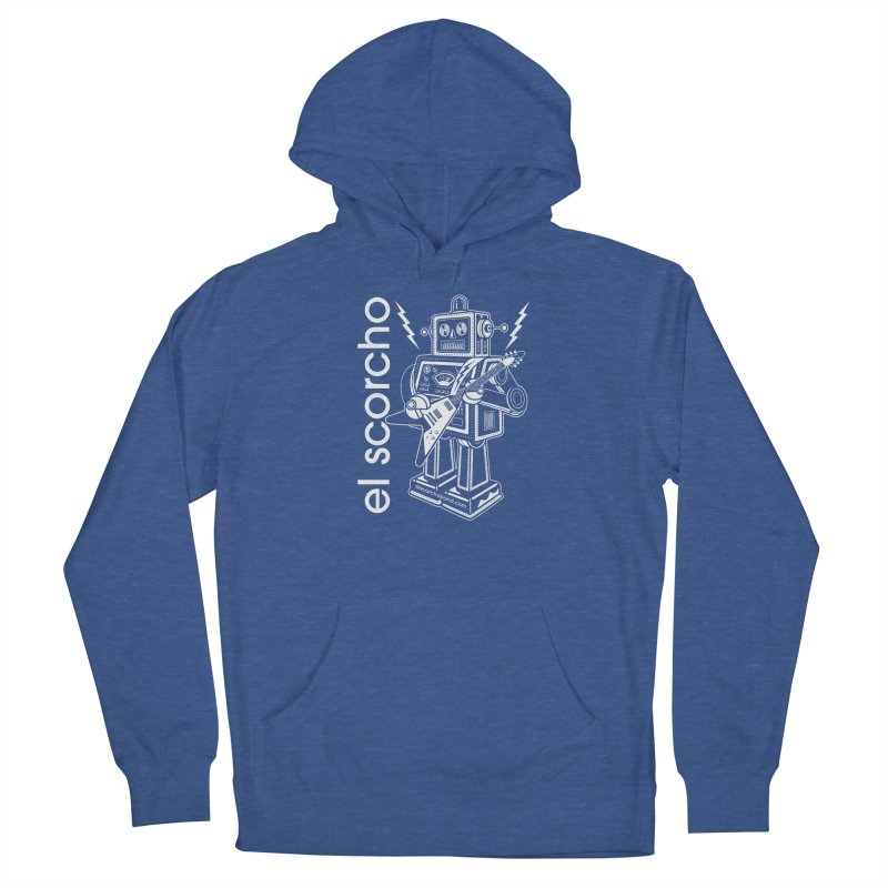 El Scorcho Robot (White Print) Men's Pullover Hoody by ATL Tribute Bands Shop