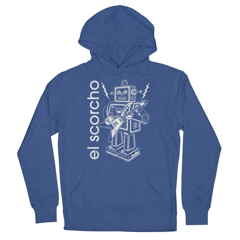 El Scorcho Robot (White Print) Men's French Terry Pullover Hoody by ATL Tribute Bands Shop