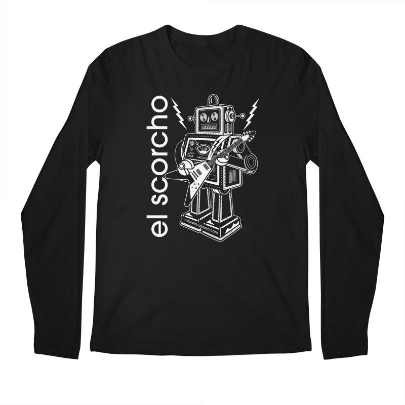El Scorcho Robot (White Print) Men's Longsleeve T-Shirt by ATL Tribute Bands Shop
