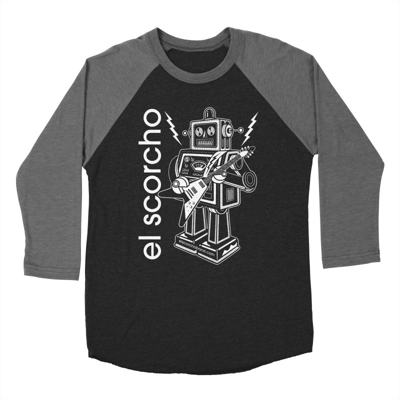 El Scorcho Robot (White Print) Women's Baseball Triblend Longsleeve T-Shirt by ATL Tribute Bands Shop