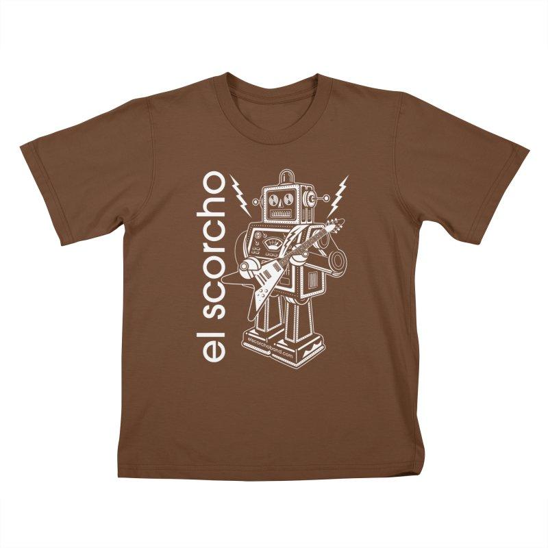 El Scorcho Robot (White Print) Kids T-Shirt by ATL Tribute Bands Shop