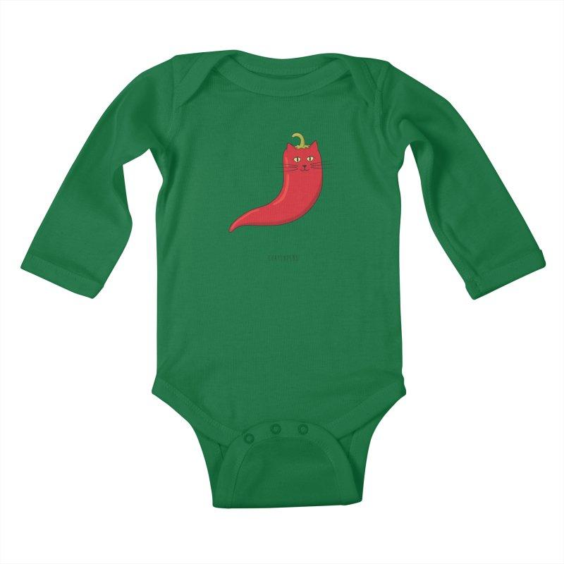 Chatlapeño Kids Baby Longsleeve Bodysuit by elvisbr's Artist Shop