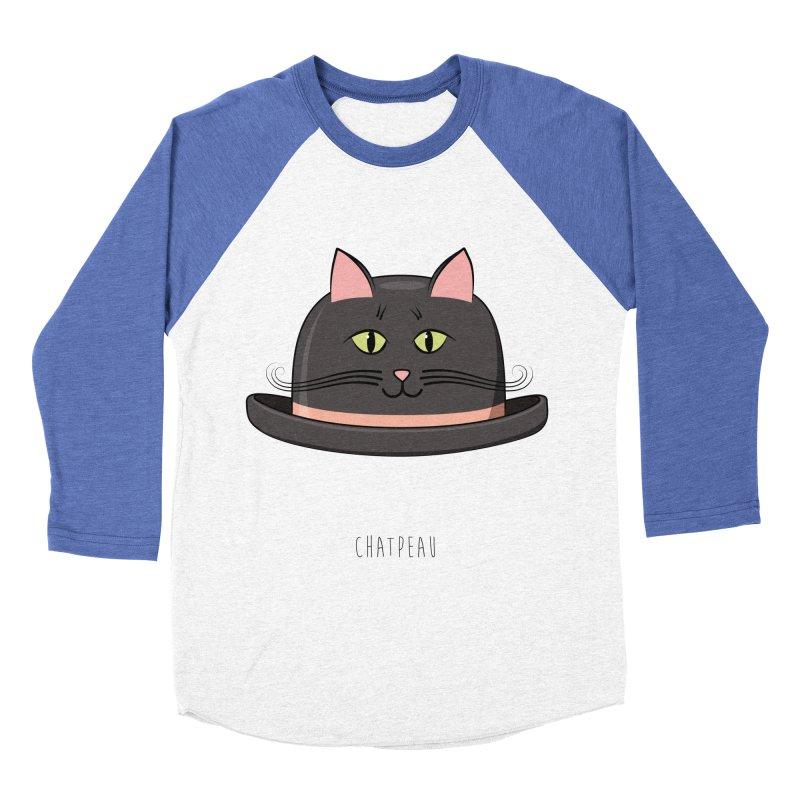 Chatpeau Men's Baseball Triblend T-Shirt by elvisbr's Artist Shop