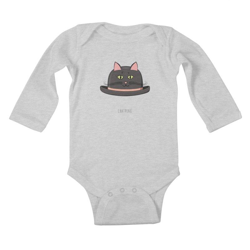 Chatpeau Kids Baby Longsleeve Bodysuit by elvisbr's Artist Shop