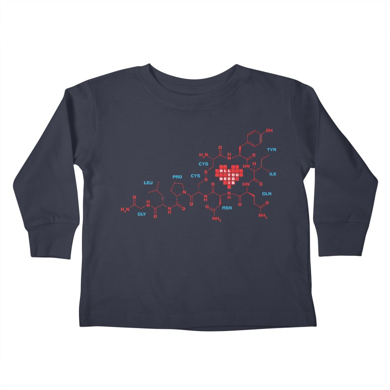 The Chemistry of Love Kids Toddler Longsleeve T-Shirt by elvisbr's Artist Shop