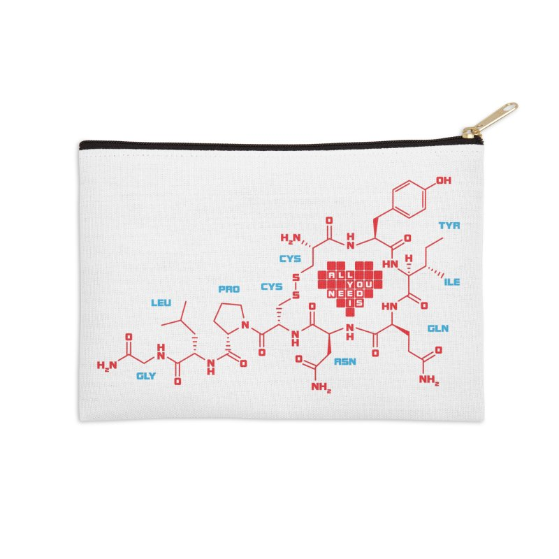 The Chemistry of Love Accessories Zip Pouch by elvisbr's Artist Shop