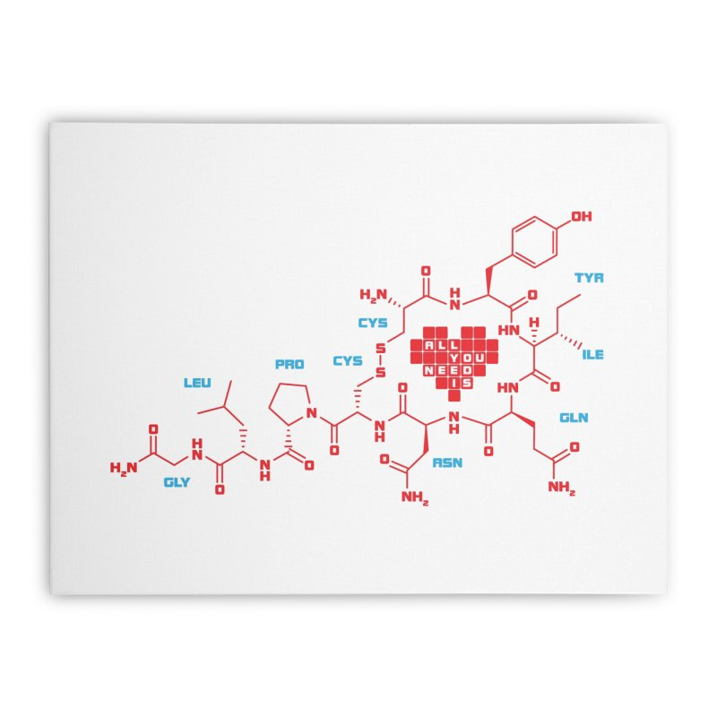 The Chemistry of Love Home Stretched Canvas by elvisbr's Artist Shop