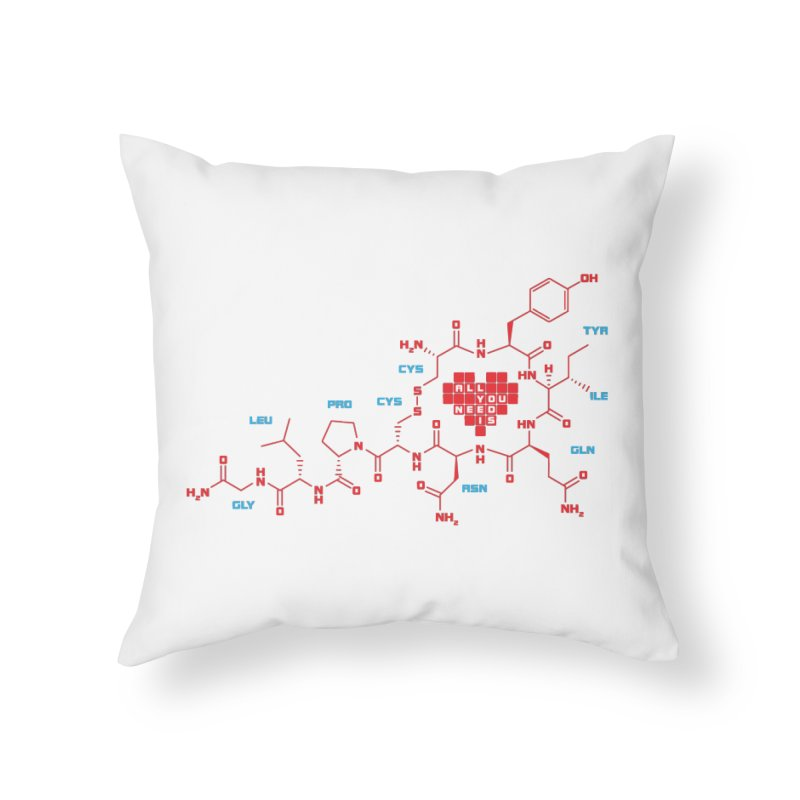 The Chemistry of Love Home Throw Pillow by elvisbr's Artist Shop