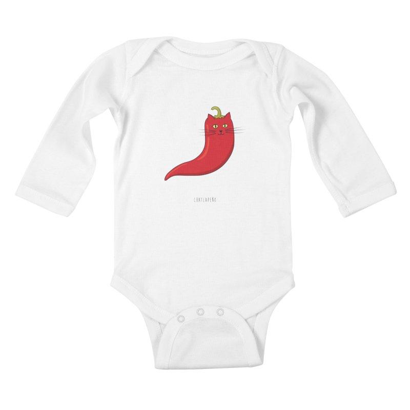 Chatlapeno Kids Baby Longsleeve Bodysuit by elvisbr's Artist Shop