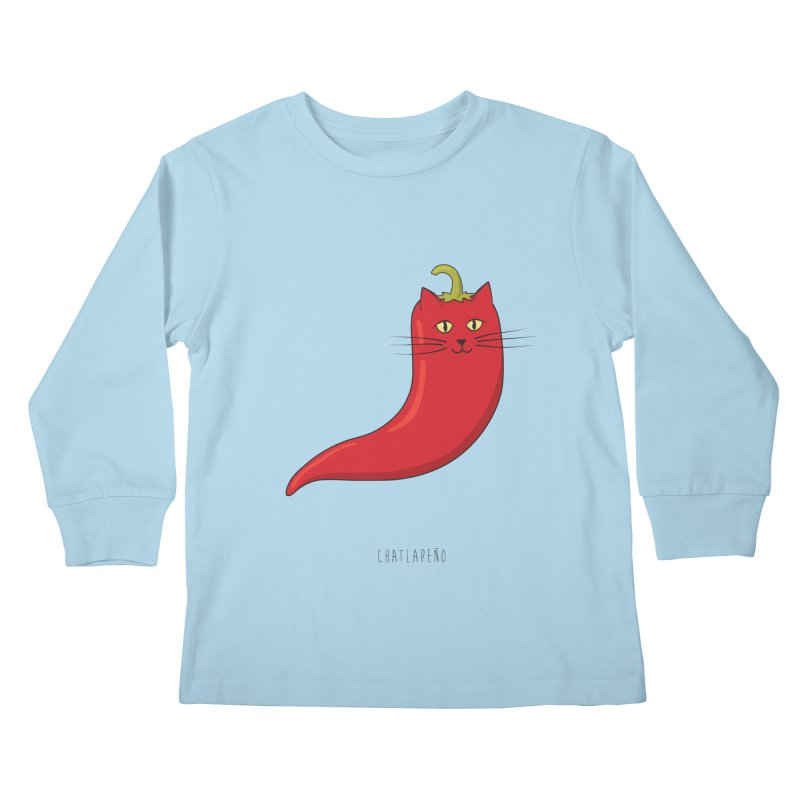 Chatlapeno Kids Longsleeve T-Shirt by elvisbr's Artist Shop