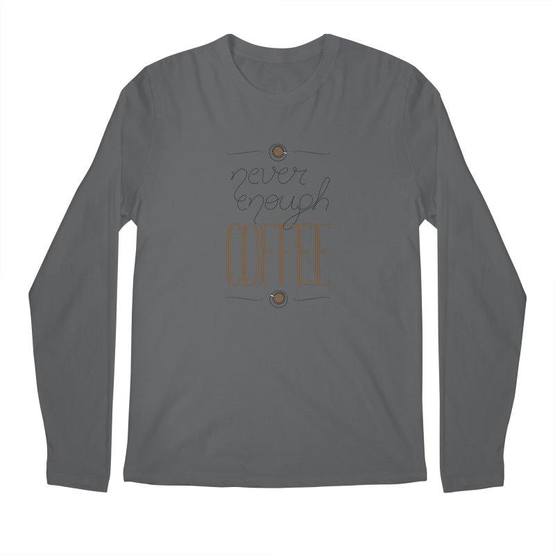 Never Enough Coffee Men's Longsleeve T-Shirt by elvisbr's Artist Shop