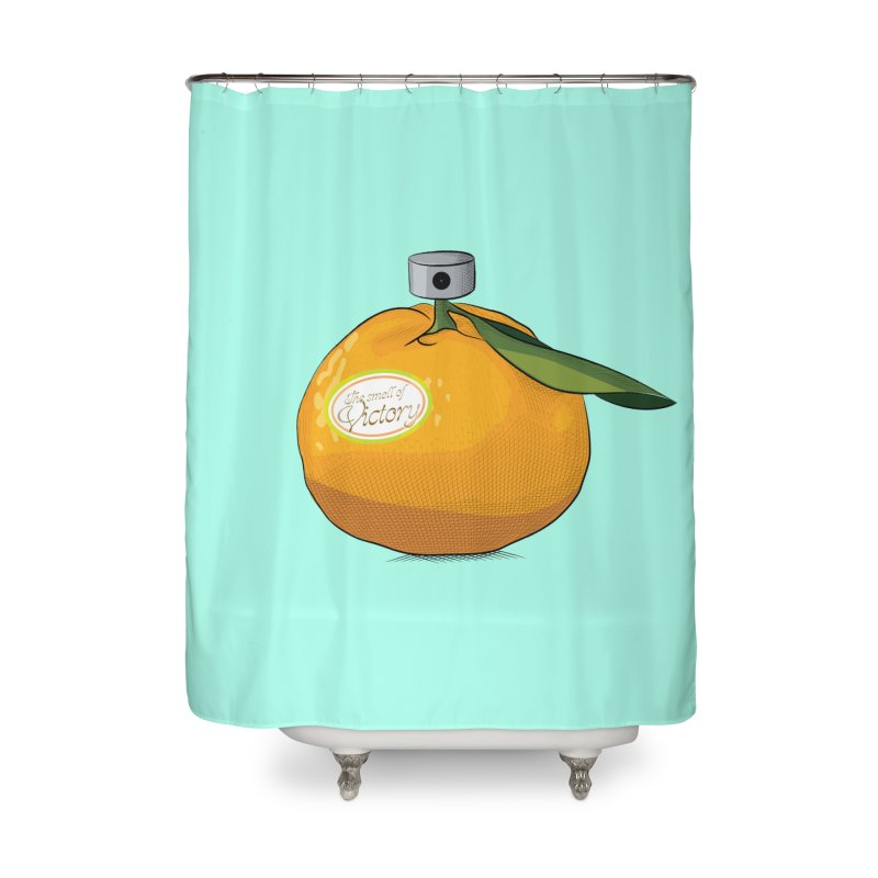 Tangerine: Smell of Victory Home Shower Curtain by elvisbr's Artist Shop