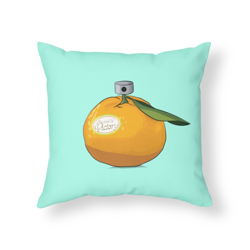 Tangerine: Smell of Victory Home Throw Pillow by elvisbr's Artist Shop