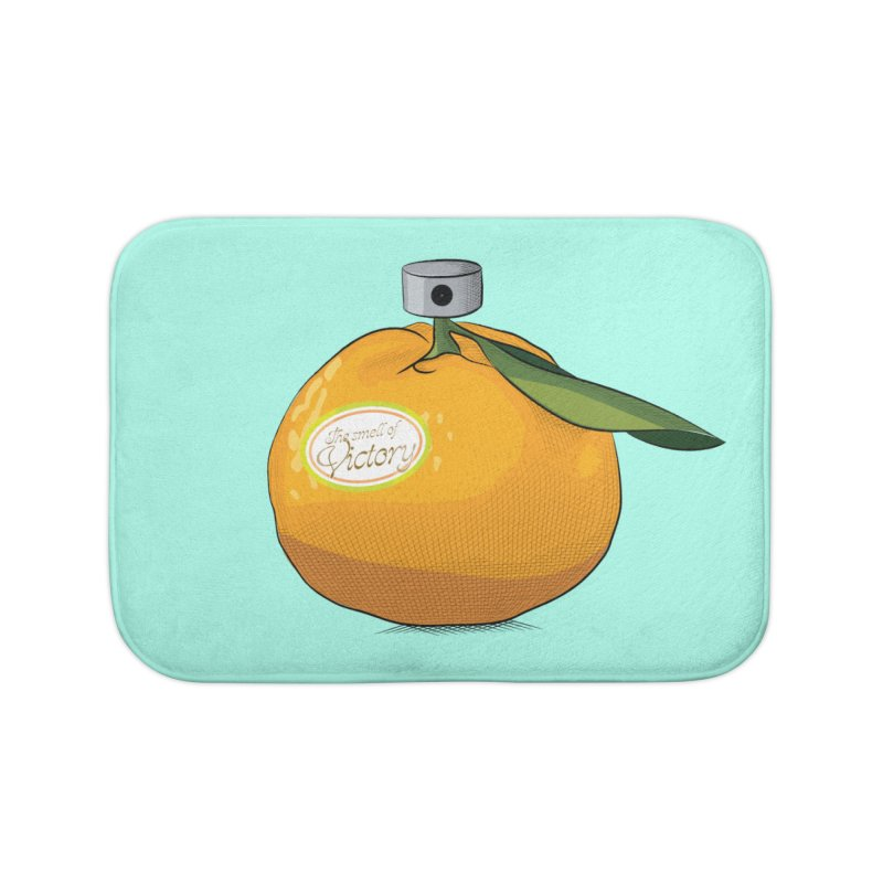 Tangerine: Smell of Victory Home Bath Mat by elvisbr's Artist Shop